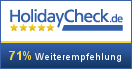 Holiday Check.de Weiterempfehlung